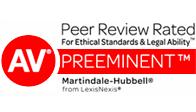 Peer Reviewed Rated - AV Preeminent Badges
