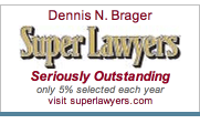 Dennis N. Brager Super Lawyer - Seriously Outstanding Badge